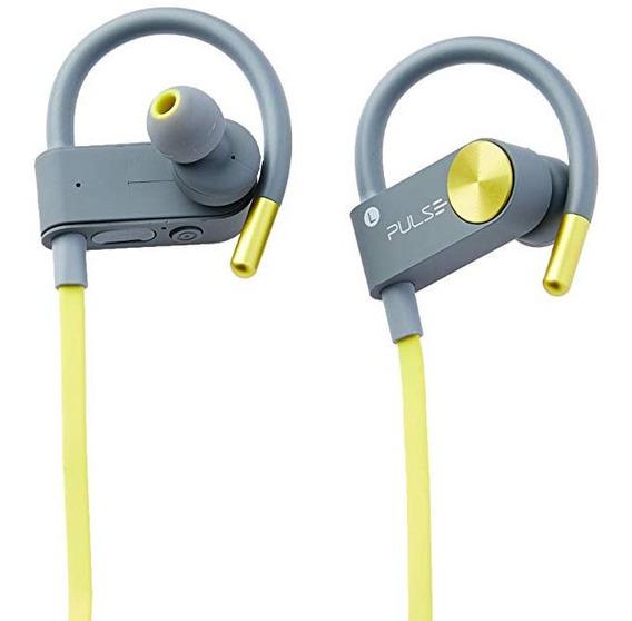 Fone Earhook In-ear Sport Metallic Bluetooth Amarelo Ph254