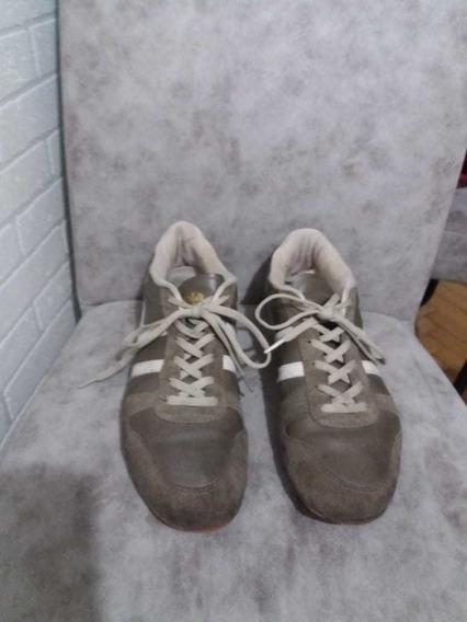 Zapatillas Gola Cuero Y Gamuza 43 Exc