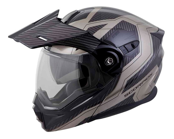 Casco Doble Proposito Scorpion Exo At950 Tucson Titanio