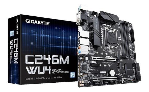 Placa Mae Servidor Intel Gigabyte Lga1151 Ddr4 Chipset C246.
