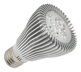 Kit 5 Lampada Par Led 5w Redondo Embutir Branco Quente 1077a