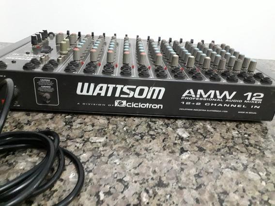Mesa De Som,wattsom Ciclotron De 12 Canais Amw Professional