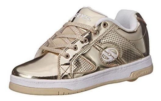 Zapatos Con Ruedas Heelys Split Chrome Dorado G T38