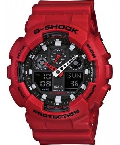 Relógio Casio Masculino G-shock Vermelho Ga-100b-4adr