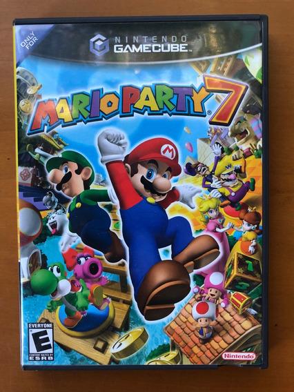 Jogo Gamecube Mario Party 7 Original Com Manuais