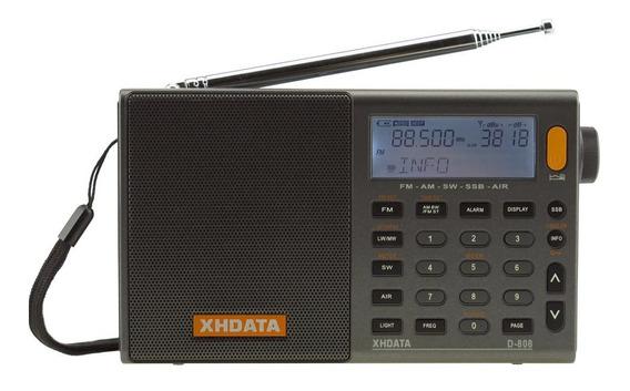 Rádio Xhdata D-808 Banda Aérea Aviação Am Fm Oc Sw Ssb Usb
