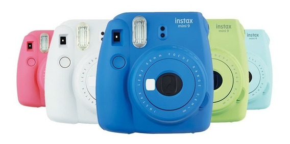 Câmera Fujifilm Instax Mini 9 Varias Cores + Filme 20 Poses