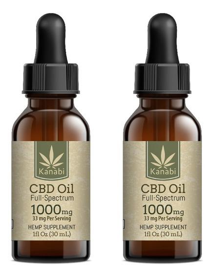 Organic Cbd Oil Full Spectrum 1000mg (2 Pack)