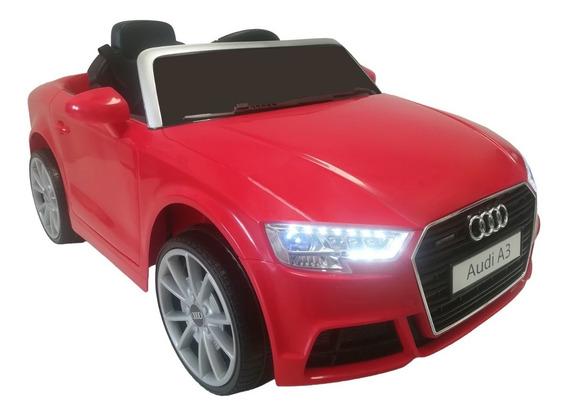 Carro Eléctrico Con Control Remoto Audi Rojo