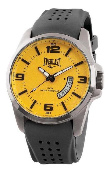 Relógio Pulso Everlast Masculino Aço Calendário E485