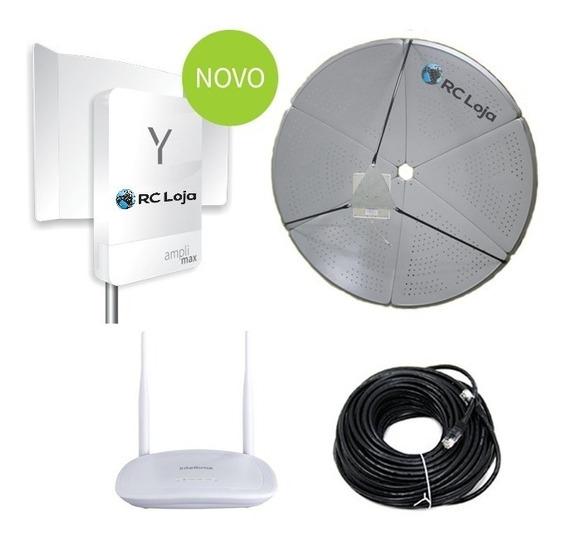 Kit Internet Rural Antena Parabólica 60dbi