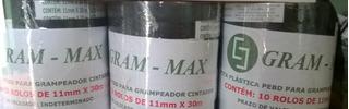 Kit 20 Rl Fita Plastica Preta Alciador E 10 Cx Grampo 6/4b