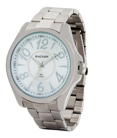 Relógio Backer Masculino 3399123f Prata