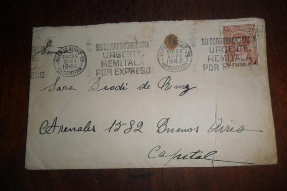 Mariano Moreno Papeleria Sello Estampilla Correo 1947
