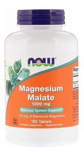 Magnesium Magnésio Malate 1000mg Now 180 Tablets