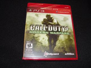 Call Of Duty 4 Modern Warfare Ps3 Nuevo Sellado Garantia