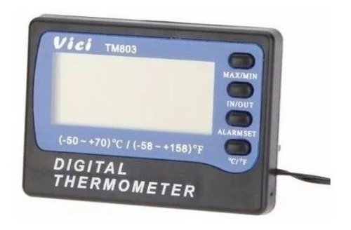 Termómetro Alarma Sonda 3m, Memoria Max Min, Nevera Tm803