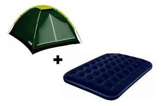 Barraca Camping Cobertura Impermeável 6p +colchão Casal