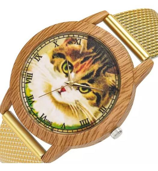Relógio Gatinho Coleção. Frete Grátis! 12x S/ Juros.