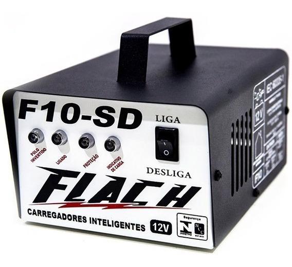 Carregador De Bateria 10a C/ Aux. De Partida - F10sd - Flach