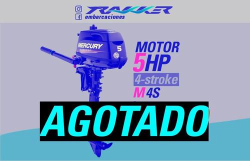 Motor Fuera De Borda Mercury 5 Hp 4 Tiempos M 4s Trakker
