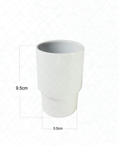 Repuesto Vaso Cepillera Porcelana Blanco