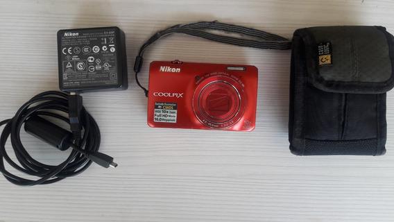 Camara Fotografica Nikon Coolpix S6300 16 Mp - 10x Zoom