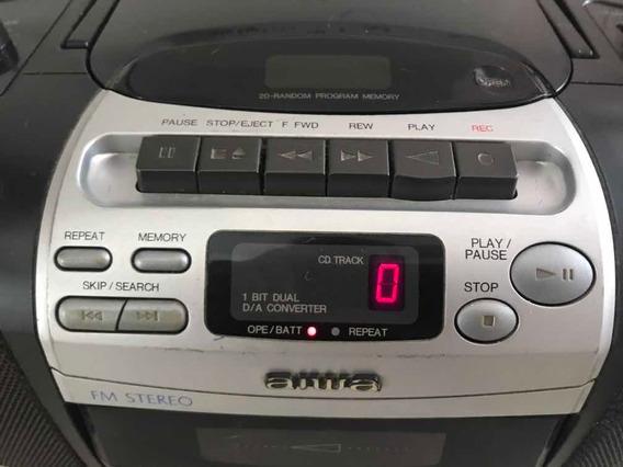 Rádio Gravador Com Cd Aiwa , Cd Funciona Perfeitamente.