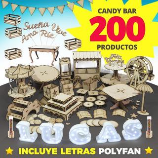 Candybar + Letras Polyfan Candy Bar Completo Fibrofacil !!