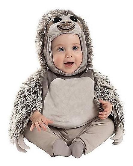 Disfraz Bebe Niña Niño Perezoso Traje Peluche Halloween