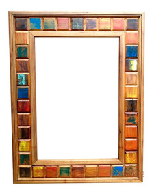 Espelho Para Banheiro Madeira Demolição 90x70