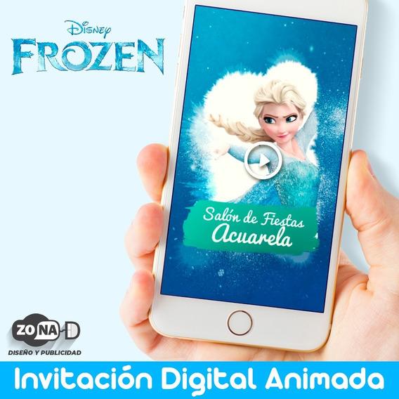 Invitacion Digital Animada Frozen 2