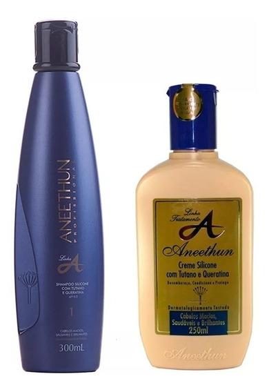 Kit Aneethun Linha A Shampoo 300ml E Creme De Silicone250ml
