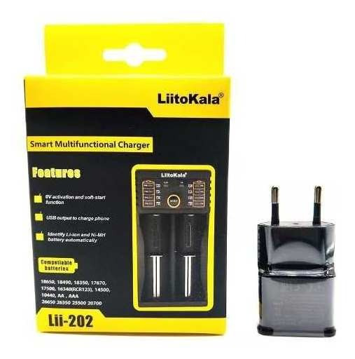 Carregador Bateria Para 2 Baterias 18650+fonte 5v Usb