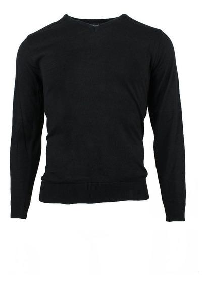 Suéter Cuello V Negro
