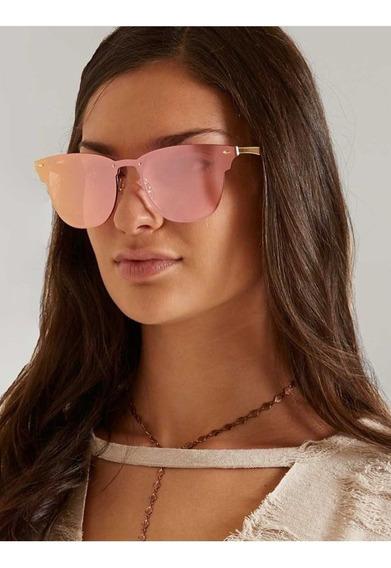 Óculos De Sol Ray Ban Rb3576n 043/e4 01-47 Blaze Clubmaster Dourado/rosa Original