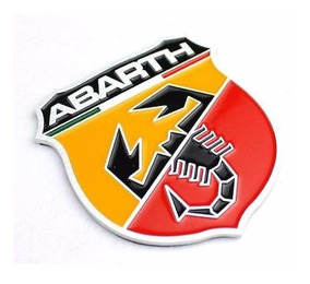 Emblema Fiat Abarth Itália Auto Bravo T-jet Adesivo Metalico