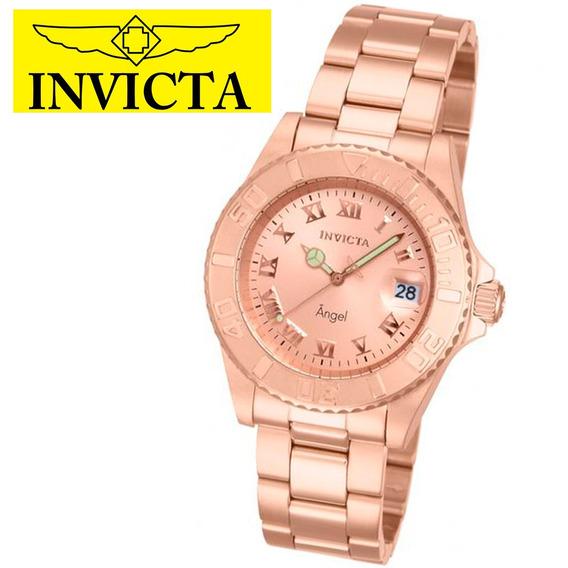 Relógio Feminino Invicta Anjo 14322 Banhado Ouro Rose Angel Original Garantia Nota Fiscal Frete Grátis Oferta Joclock