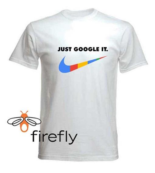 Remera Google Dinosaurio Hombre Blanco C. 2 Firefly