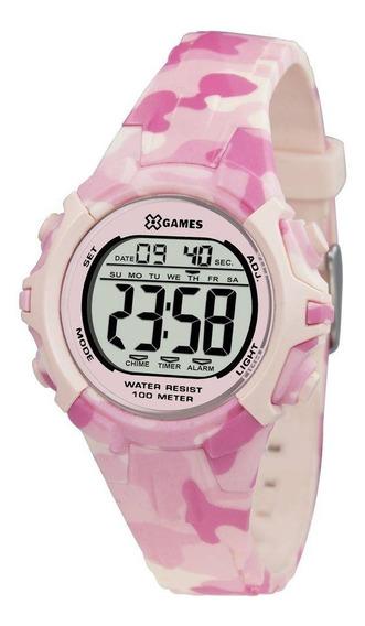 Relógio De Pulso Feminino Rosa Camuflado X-games Codxfppd055