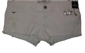 Short Branco Hollister Tam. 1 (eua) | Com Etiqueta