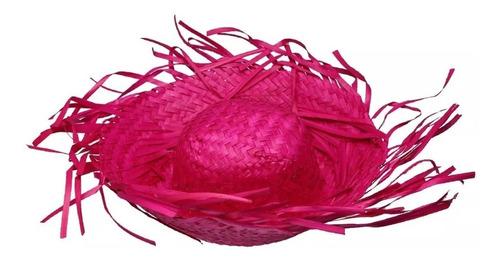 Sombreros Trenzados De Espanta Pájaros Colores Fuertes !