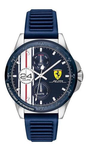 Imagen 1 de 4 de Reloj Ferrari Caballero Color Azul 0830660 - S007