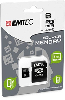 Emtec 8 Gb Clase 4 Mini Jumbo Super Microsdhc Tarjeta De Me