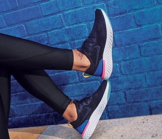 Zapatos Nike Epic React Azul Dama (somos Tienda)