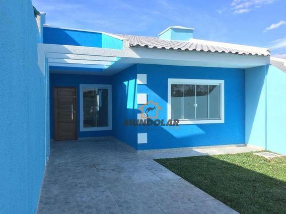 Casa Com 3 Dormitórios À Venda, 60 M² Por R$ 210.000 - Campina Da Barra - Araucária/pr - Ca1471