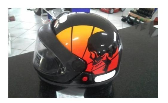 Capacete San Marino Skull Automático C/visor Ant. Risco