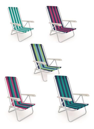 Cadeira Praia E Piscina Mor Aço 2004 Cor Sortidas Promoção!!
