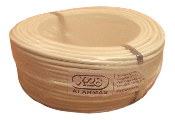 Cable Alarma X-28 Mpx3 Rollo Bobina 50mts 3 Conductores