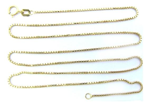 3181 Corrente Veneziana 46 Cm De Ouro 18k 750